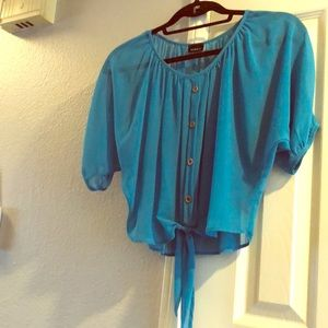 Cropped Blue Blouse